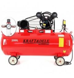 Compresor aer  200L 2 pistoane KD1473 + Separator!